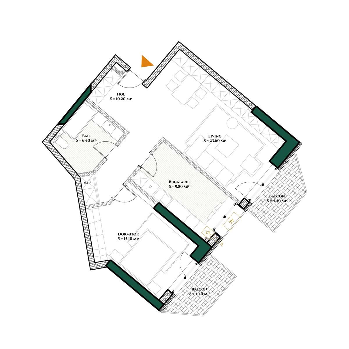 Apartament-Herastrau-Parkview---2-camere-Tip-E