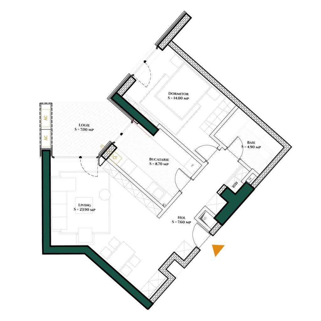 Apartament-Herastrau-Parkview---2-camere-Tip-I