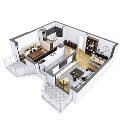 Plan-3D-Apartament-Herastrau-Parkview-camere-Tip-B
