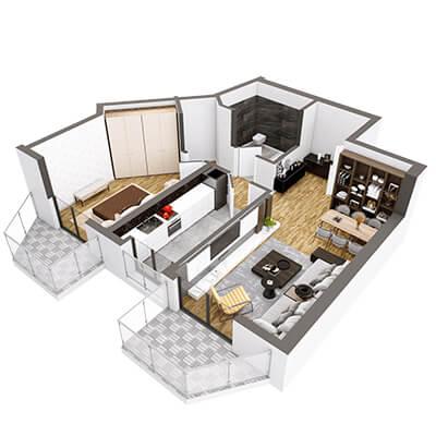 Plan-3d-Apartament-Herastrau-Parkview tip e