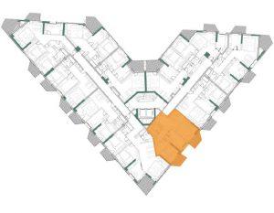 Plan Etaj Apartament Herastrau Parkview 2 camere tip B