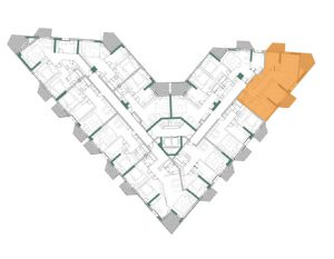 Plan Etaj Apartament Herastrau Parkview 3 camre tip G