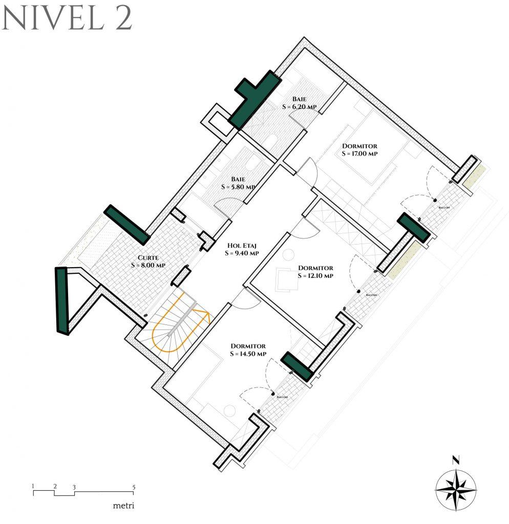 Duplex 4D6 plan etaj